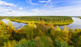 Autumn river nature landscape Royalty Free Stock Photos