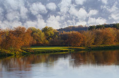 Autumn by the river Stock Photography