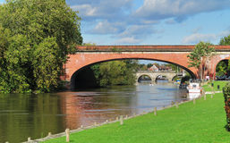 Autumn on the River Thames in Berkshire, England Royalty Free Stock Images