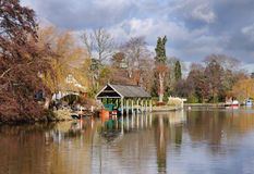 Autumn on The River Thames in England Royalty Free Stock Images