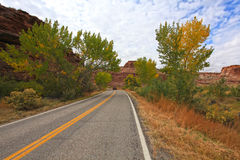 Autumn road. Image of colorful road in Utah Stock Image