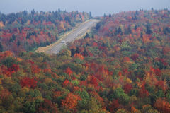 Autumn road along Scenic Highway US Route 150, WV Stock Photo