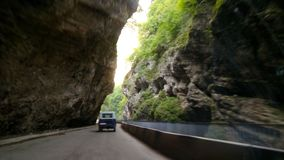 Autumn road. Trip in Russia, beautiful Caucasus view travel Stock Image