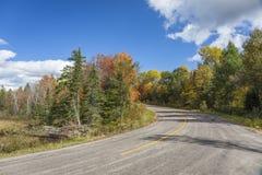 Autumn Road and Fall Colour - Ontario, Canada Royalty Free Stock Photos