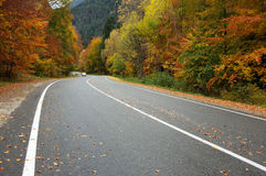 Autumn road in mountains Royalty Free Stock Photography
