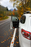 Autumn road in mountains Royalty Free Stock Photos