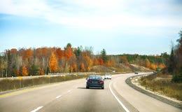Autumn road. In Ontario, Canada royalty free stock photo