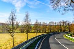 Autumn road scene Stock Photo