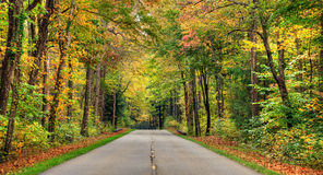 Autumn road. In the smokey mountains in Tennessee stock photo