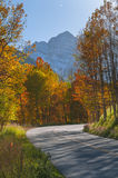 Autumn Road to the Maroon Bells Royalty Free Stock Images