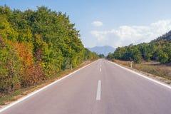 Autumn Road Trip La Bosnia-Erzegovina, Repubblica Serba fotografia stock