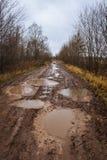 Autumn roads around Palekh, Vladimir region, Russia Stock Photography