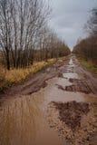 Autumn roads around Palekh, Vladimir region, Russia Royalty Free Stock Photography