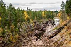 Autumn rocky canyon Royalty Free Stock Photos