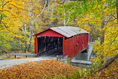 Autumn at Rolling Stone Covered Bridge Royalty Free Stock Photography