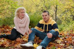 Autumn romance Royalty Free Stock Photos