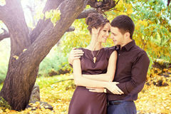 Autumn romance Stock Images