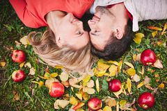 Autumn romance Royalty Free Stock Image