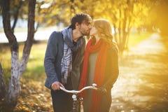 Autumn romance Stock Images