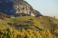 Autumn in Romania. Autumn in a Romanian village: Magura, Brasov county Royalty Free Stock Image