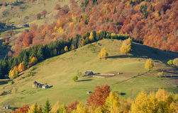 Autumn in Romania. Autumn in a Romanian village: Magura, Brasov county Stock Photos