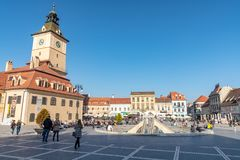 Autumn in Romanian Brasov royalty free stock photo