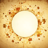 Autumn Round Grunge Frame Images stock