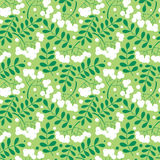 Autumn rowanberry leaves and berries seamless pattern Royalty Free Stock Photos