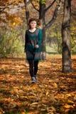 Autumn run Royalty Free Stock Image