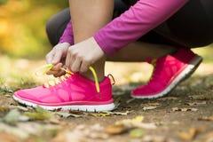 Autumn runner Stock Images