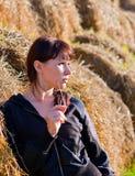 Autumn rural evening Stock Images
