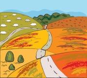 Autumn rural landscape Stock Image