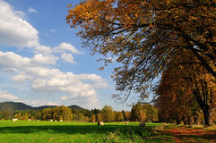 Autumn rural landscape. Czech republic Stock Images
