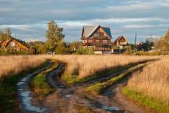 Autumn rural landscape Stock Photos