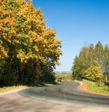 Autumn rural road Stock Photo