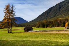 Autumn rural scenery of Mieminger Plateau, austrian landscape, Austria, Europe, Tyrol Stock Photos