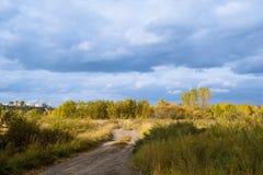 Autumn. In Russia, Siberia, sky Royalty Free Stock Photo