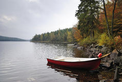 Autumn's fishing season Royalty Free Stock Image