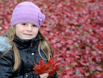 Autumn's girl portrait Stock Photo