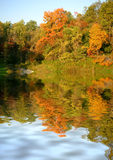Autumn's Palette. Beautiful autumn colors reflected Stock Photo