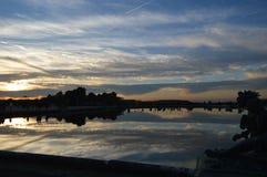 Autumn`s sunset in Versailles. Garden stock photos