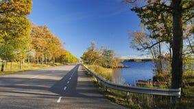 Autumn's Swedish traveling Stock Photo