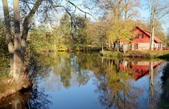 Autumn's water reflections Royalty Free Stock Photos