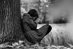 Autumn sadness royalty free stock photography