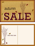Autumn sala post card Stock Photos