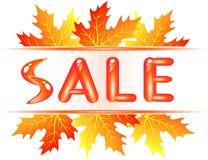 Autumn sale. New autumn sale for you Royalty Free Stock Photos