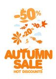 Autumn sale. Royalty Free Stock Images