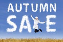 Autumn Sale Arkivbild