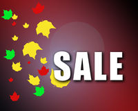 Autumn Sale Stock Photography