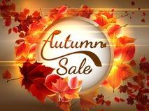Autumn Sale-achtergrond met copyspace plus EPS10 Royalty-vrije Stock Foto